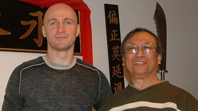 Sifu Edgar Zimmermann with Sifu Allan Fong – Amsterdam, 2009