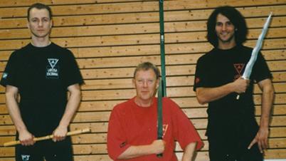 E. Zimmermann with Master B. Newman and Sifu H. Pfaff – Wiesenbach/ Germany, 1995