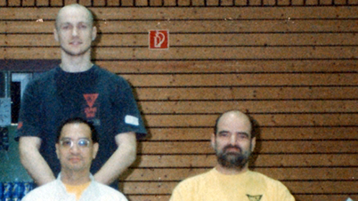 With GM Leung Ting and Dai-Sifu K. R. Kernspecht - Wiesenbach/ Germany, 1998