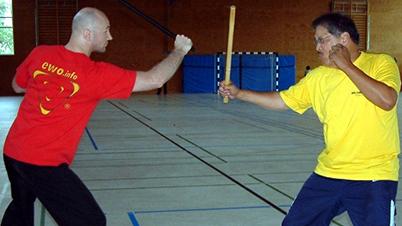Sifu Edgar Zimmermann with GM Rene Latosa – Escrima, Stuttgart/ Germany, 2009