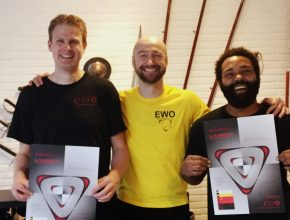 WingTczun Elte: 2nd TG Technician Leadership: Matthias Kortleven & Jeroen Louren (with Sifu Edgar Zimmermann) at the EWO Academy Enschede.
